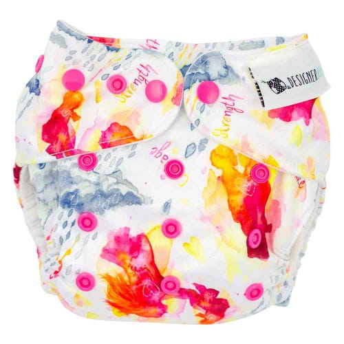 Designer Bums Reusable Nappy - Through The Storm