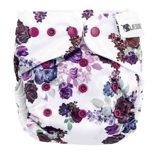 Designer Bums Reusable Nappy - Velvet Rose