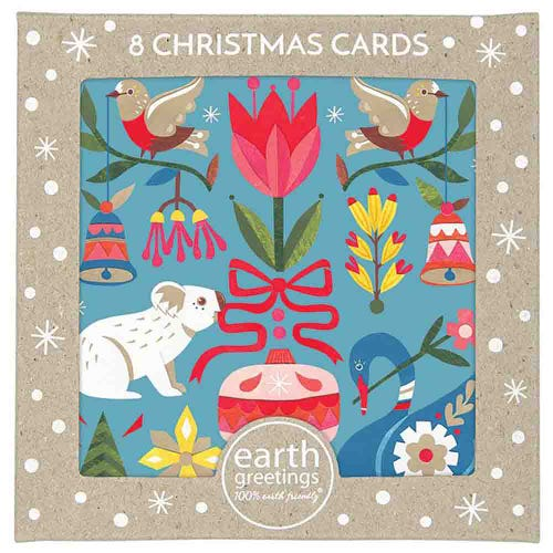 Earth Greetings Christmas Cards - All The Trimmings (8 Cards)