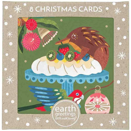 Earth Greetings Christmas Cards - Christmas Pavlova (8 Cards)