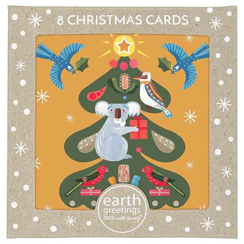 Earth Greetings Christmas Cards - Tree Of Light (8 Cards)