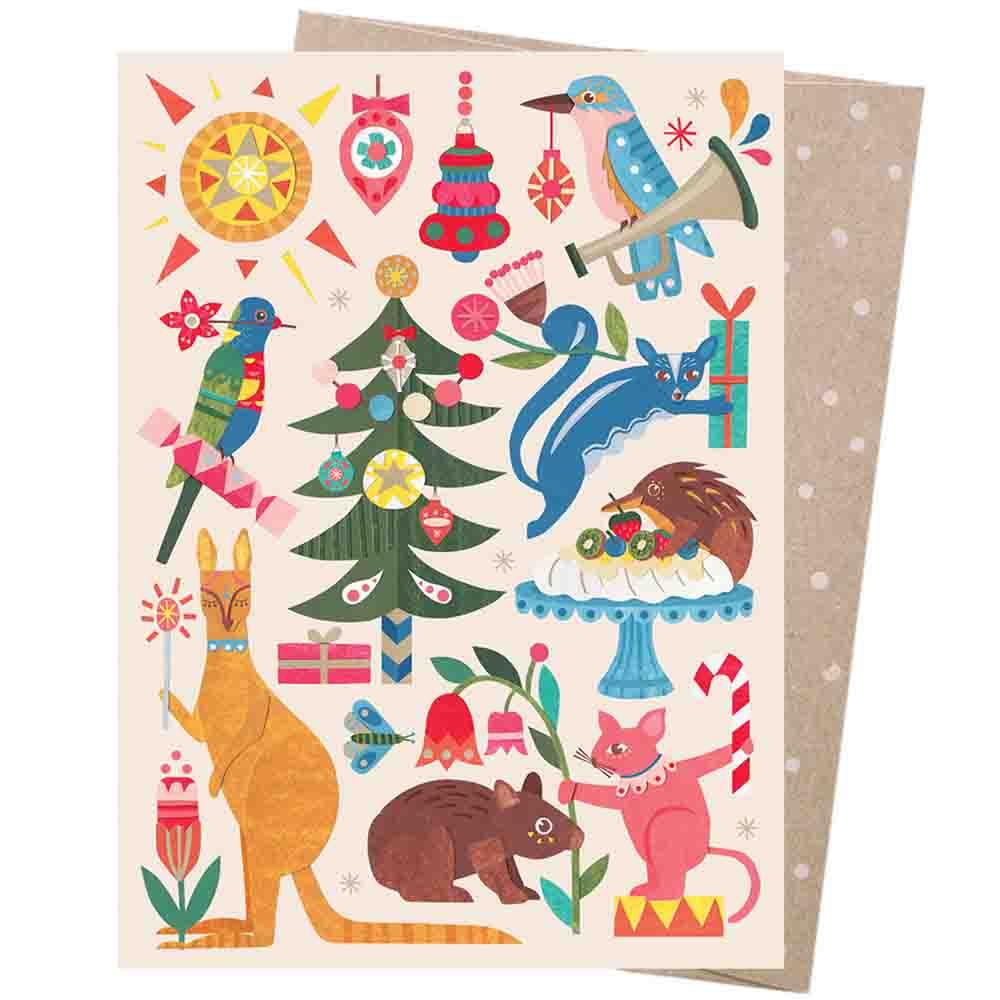 Earth Greetings Christmas Card - Festive Fauna