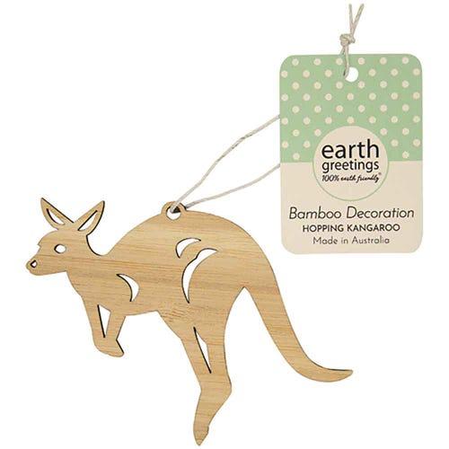 Earth Greetings Bamboo Decoration - Hopping Kangaroo