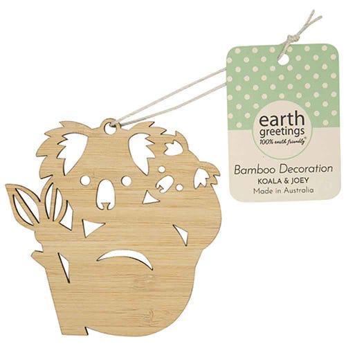 Earth Greetings Bamboo Decoration - Koala & Joey