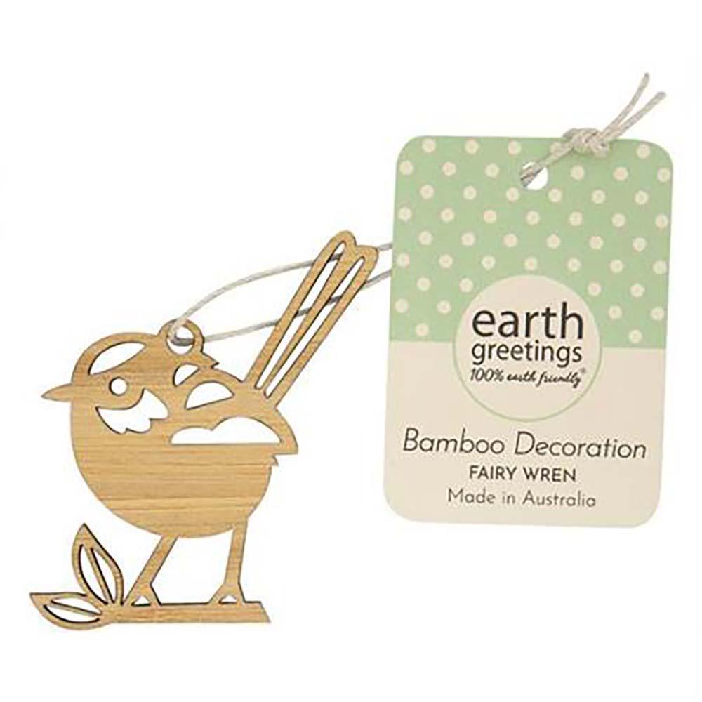 Earth Greetings Mini Bamboo Decoration - Fairy Wren