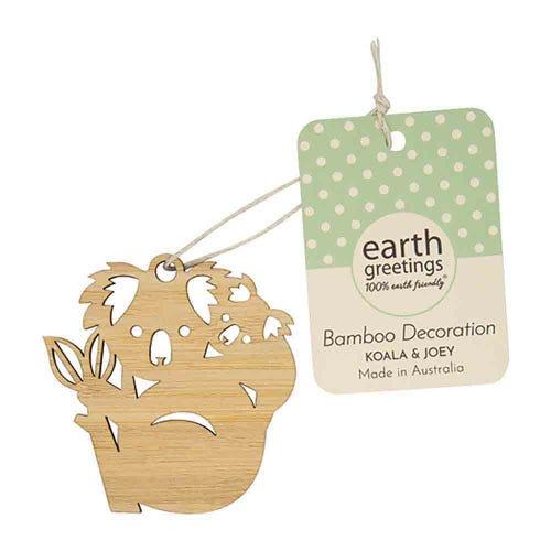 Earth Greetings Mini Bamboo Decoration - Koala & Joey