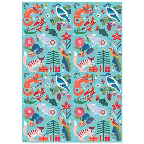 Earth Greetings Wrapping Paper - Nature's Gifts (1 Sheet)
