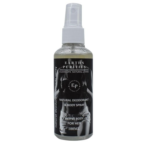 Earths Purities Natural Deodorant & Body Spray For Her (100ml)