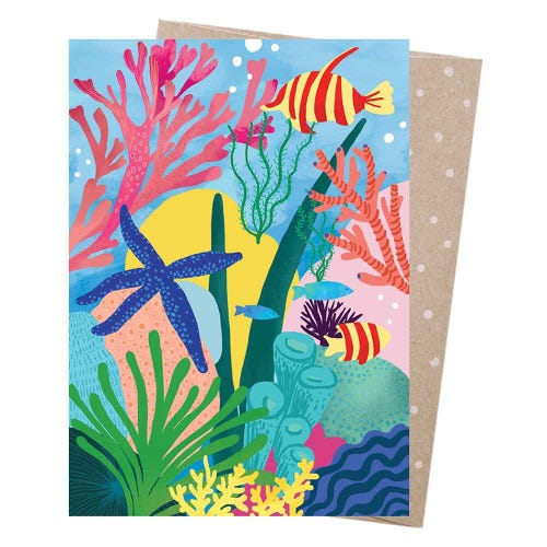 Earth Greetings Blank Card - Great Barrier Reef
