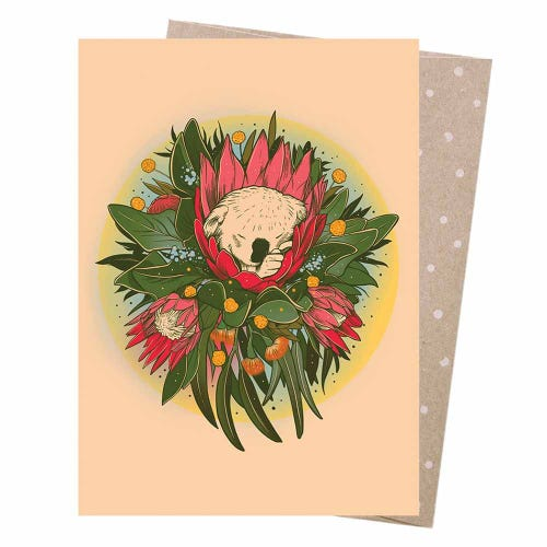 Earth Greetings Blank Card - Baby Koala