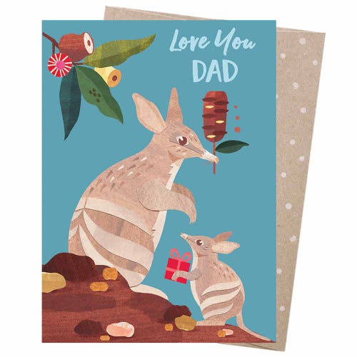 Earth Greetings Blank Card - Bandicoot Dad