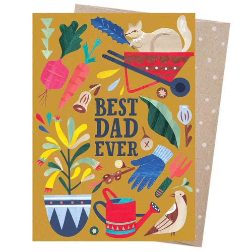 Earth Greetings Blank Card - Dad Gardener