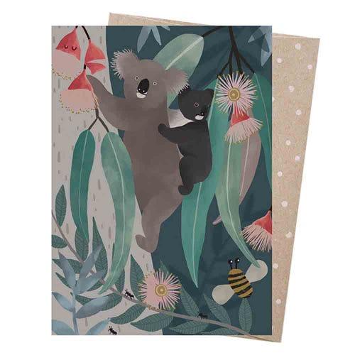 Earth Greetings Blank Card - Bush Baby