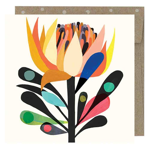 Earth Greetings Blank Card - Cardinal Waratah