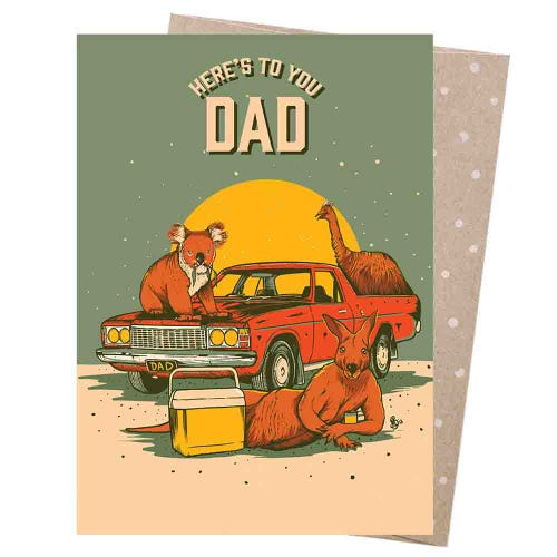 Earth Greetings Blank Card - Dad's Sunday