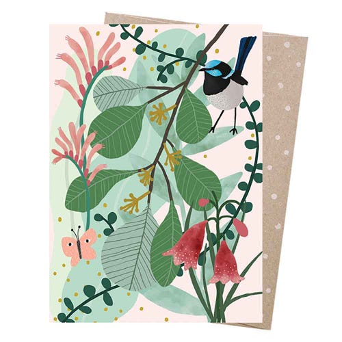 Earth Greetings Blank Card - Fairy Wren's Heath