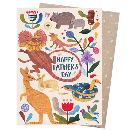 Earth Greetings Blank Card - Father's Day Menagerie