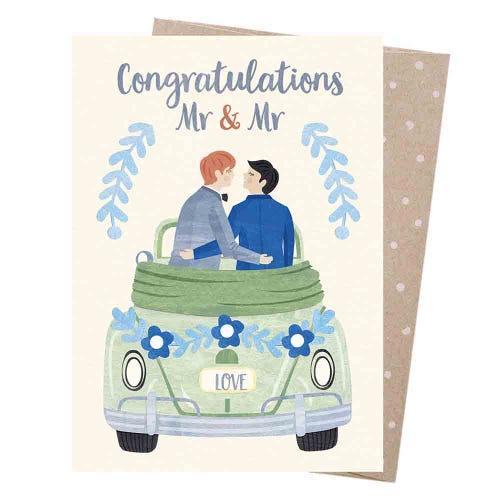 Earth Greetings Blank Card - Grooms Honeymoon