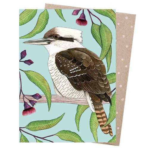 Earth Greetings Blank Card - Kookaburra Calling