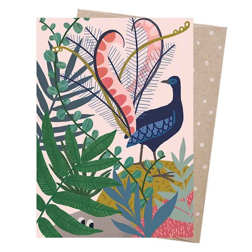 Earth Greetings Blank Card - Lyrebird's Serenade