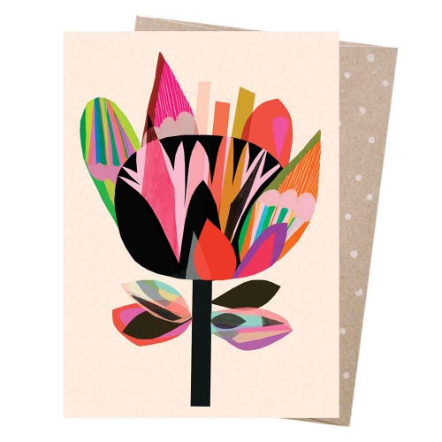 Earth Greetings Blank Card - Midnight Flora