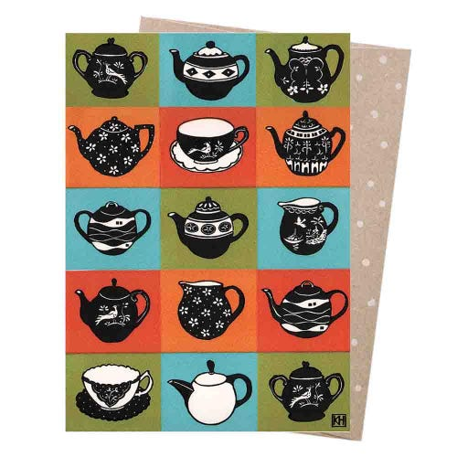 Earth Greetings Blank Card - Miniature Teasets