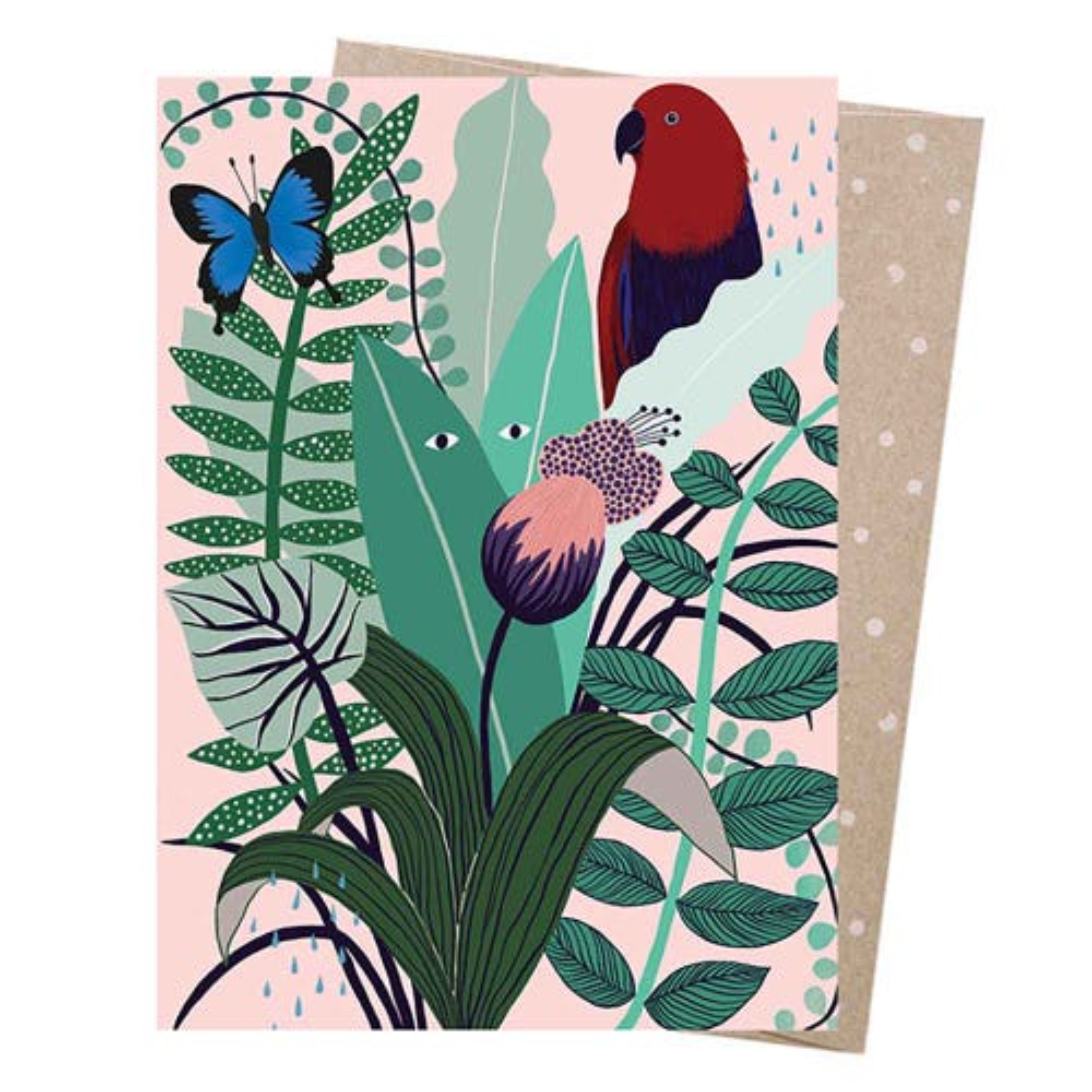 Earth Greetings Blank Card - Monsoon Parrot