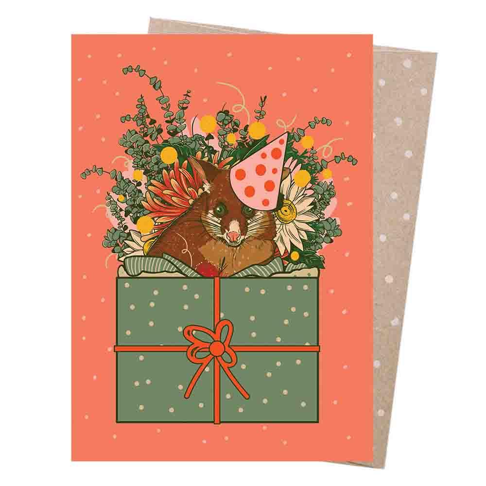 Earth Greetings Blank Card - Possum Party