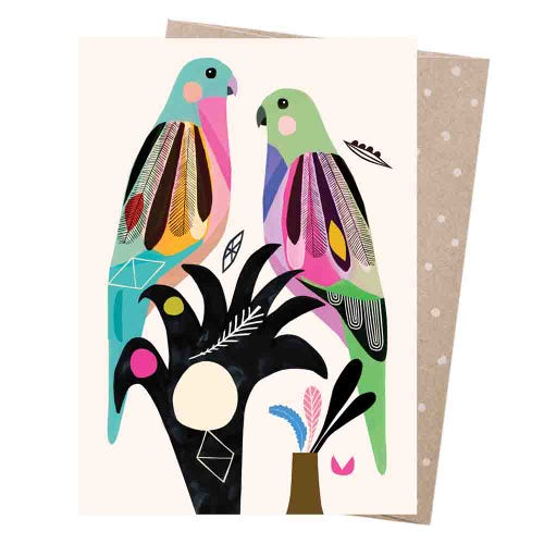 Earth Greetings Blank Card - Princess Parrots