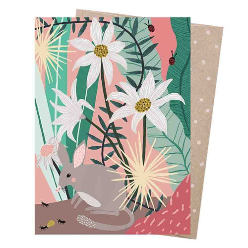 Earth Greetings Blank Card - Spinifex Bilby
