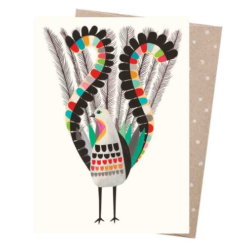 Earth Greetings Blank Card - Superb Lyrebird