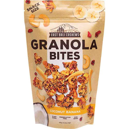 East Bali Cashews Coconut Banana Granola Bites (125g)