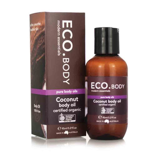 Eco. Certified Organic Coconut Body Oil (95ml)