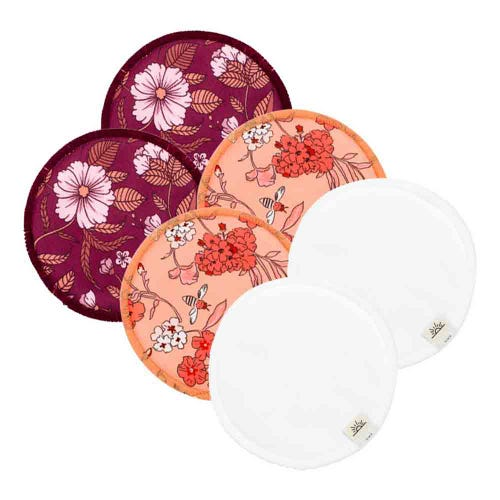 EcoNaps Reusable Nursing Pads 3 Pack - Mix Blossoms
