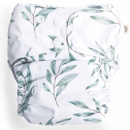 EcoNaps Reusable Cloth Nappy - Olive Leaf
