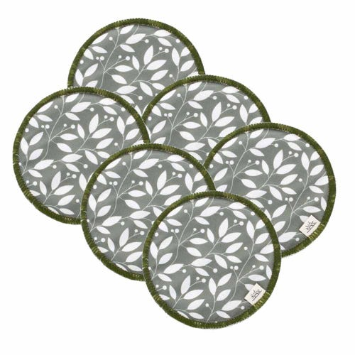 EcoNaps Reusable Nursing Pads 3 Pack - Sage