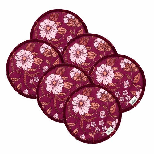 EcoNaps Reusable Nursing Pads 3 Pack - Xanadu