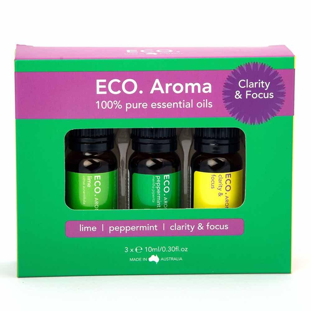 Eco. Essential Oil Trio - Clarity & Focus