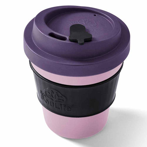 EcoSouLife Reusable Bio Sip Cup - Light Berry (12oz)
