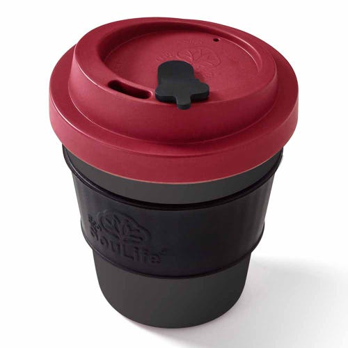 EcoSouLife Reusable Bio Sip Cup - Red/ Dark Grey (12oz)