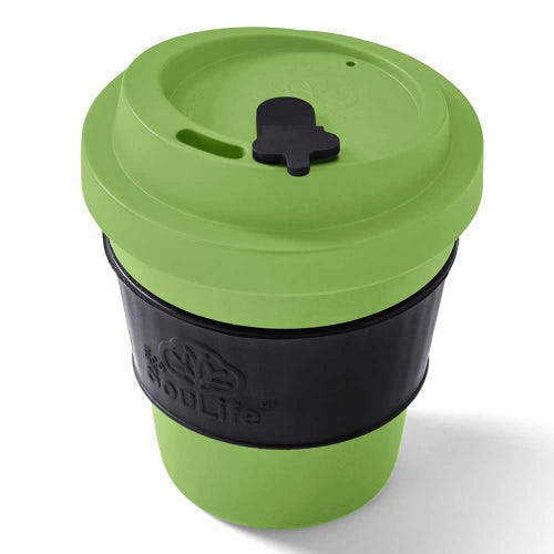 EcoSouLife Reusable Bio Sip Cup - Lime & Black (12oz)