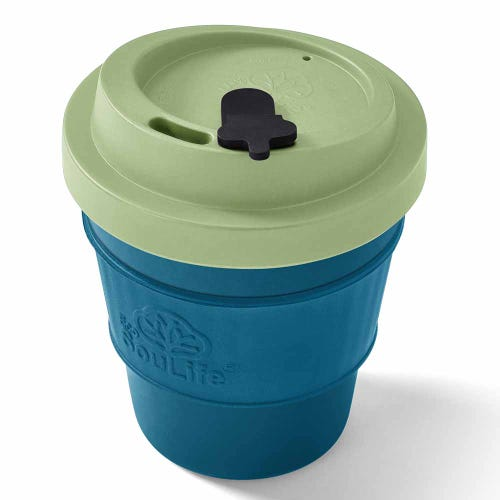 EcoSouLife Reusable Bio Sip Cup - Lime/ Turquoise (12oz)