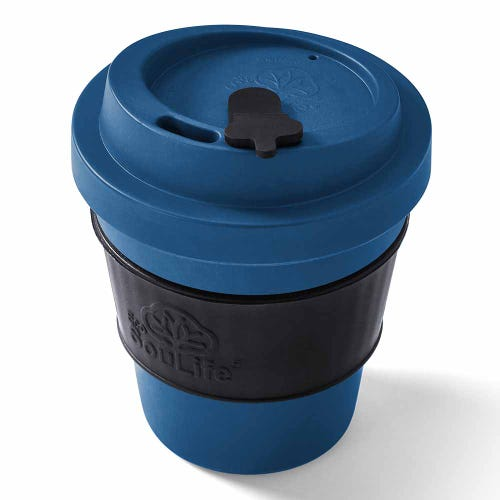 EcoSouLife Reusable Bio Sip Cup - Navy/ Black (12oz)