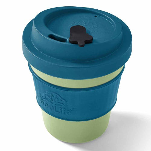 EcoSouLife Reusable Bio Sip Cup - Turquoise/ Lime (12oz)