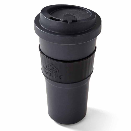 EcoSouLife Reusable Bio Sip Cup - Dark Grey/ Black (20oz)