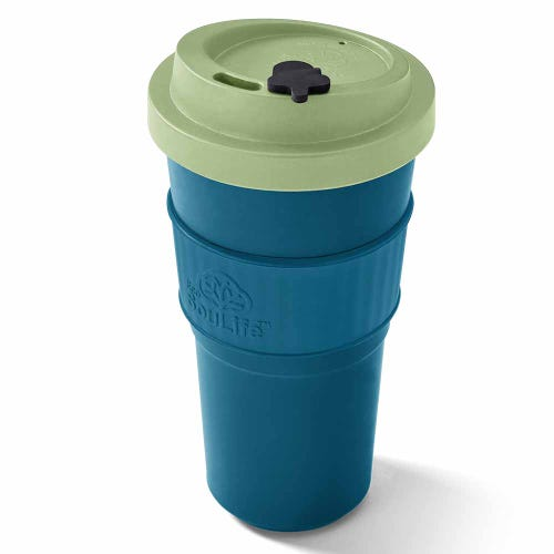 EcoSouLife Reusable Bio Sip Cup - Lime/ Turquoise (20oz)