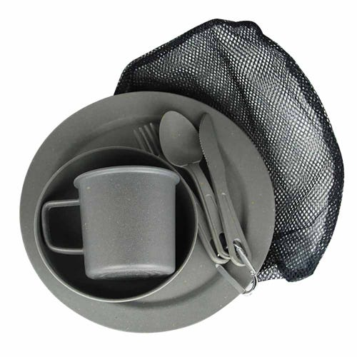 EcoSouLife Reusable Camping Set - Charcoal