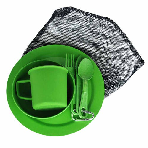 EcoSouLife Reusable Camping Set - Green