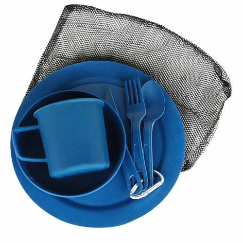 EcoSouLife Reusable Camping Set - Navy