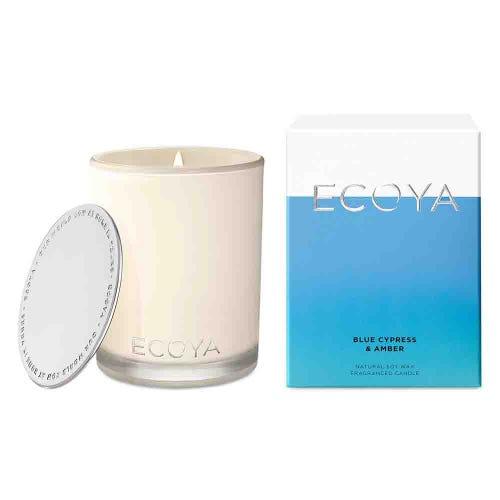 ECOYA Madison Jar Candle - Blue Cypress & Amber